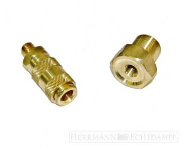 Gasschnellkupplung mit Adapter