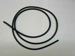 Silokonschlauch, schwarz 2,0 x 1,5 mm