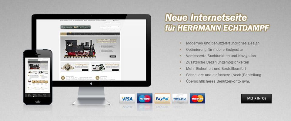 Neue Internetseite für HERRMANN ECHTDAMPF