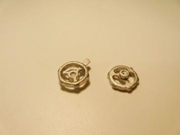 Handrad 13 mm, Weißmetall