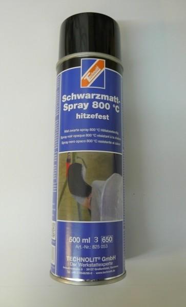 Technolit, Thermolack, mattschwarz, 500 ml